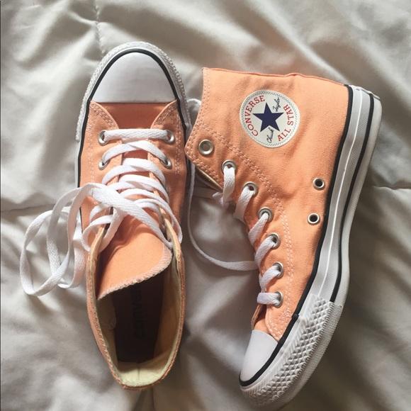 01275e17ac304a Converse Shoes - Converse High Top - Light Orange   Peach